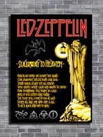 LED ZEPPELIN - Stairway to heaven canvas print - self adhesive poster - photo print